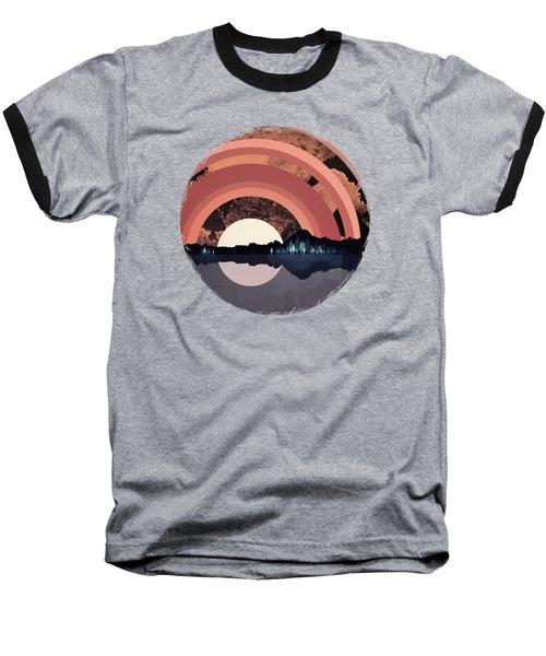 Forest Night Reflection Baseball T-Shirt