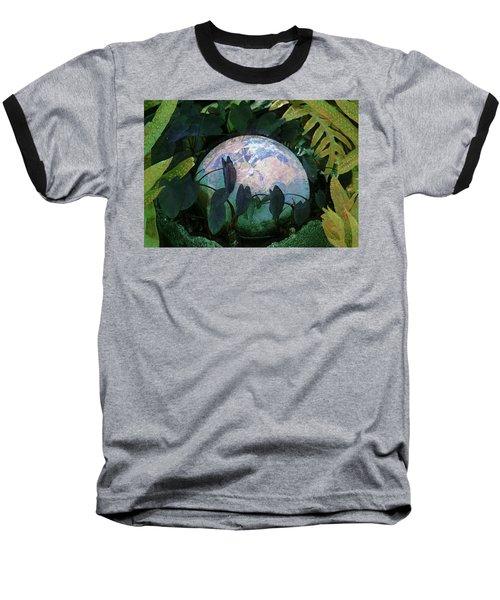 Forest Orb Baseball T-Shirt by Lori Seaman