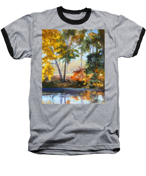 Forest Park - Autumn Reflections Baseball T-Shirt by Irek Szelag