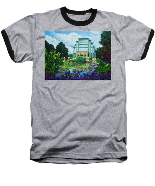 Forest Park Jewel Box Baseball T-Shirt by Michael Frank
