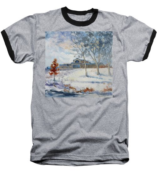 Forest Park Winter Baseball T-Shirt by Irek Szelag