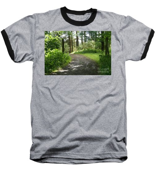 Forest Path. Baseball T-Shirt
