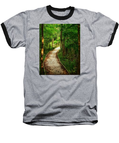 Baseball T-Shirt featuring the photograph Forest Path by Nikki McInnes