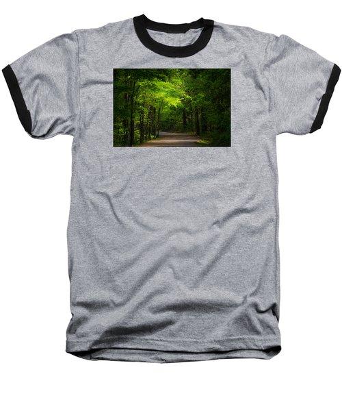Forest Path Baseball T-Shirt by Parker Cunningham