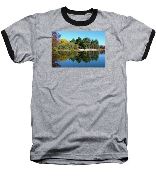 Baseball T-Shirt featuring the photograph Forest Reflections by Teresa Schomig