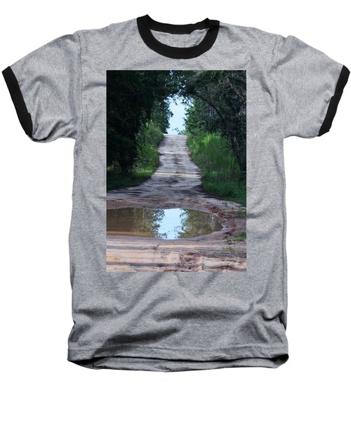 Forest Road And Puddle Baseball T-Shirt