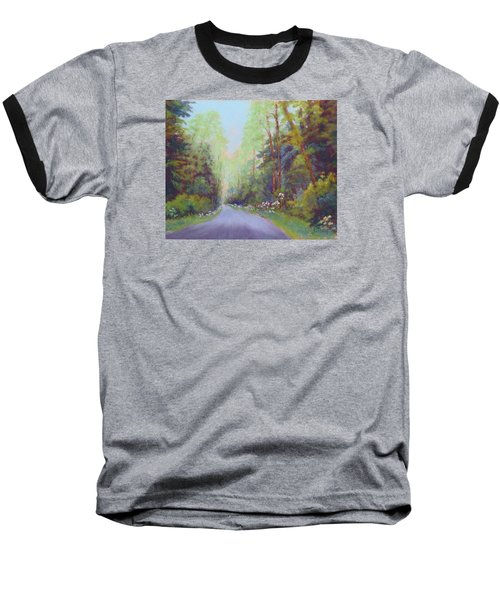 Forest Road Baseball T-Shirt by Nancy Jolley