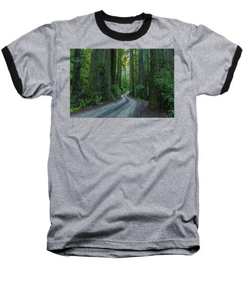 Forest Road. Baseball T-Shirt by Ulrich Burkhalter