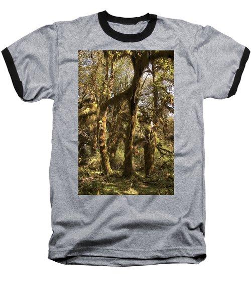 Forest Setting In Hoh Rain Forest Baseball T-Shirt
