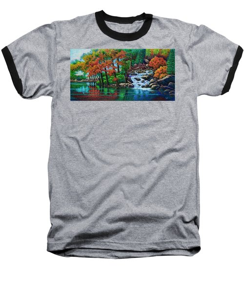 Forest Stream II Baseball T-Shirt by Michael Frank