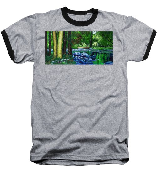 Forest Stream Baseball T-Shirt by Michael Frank