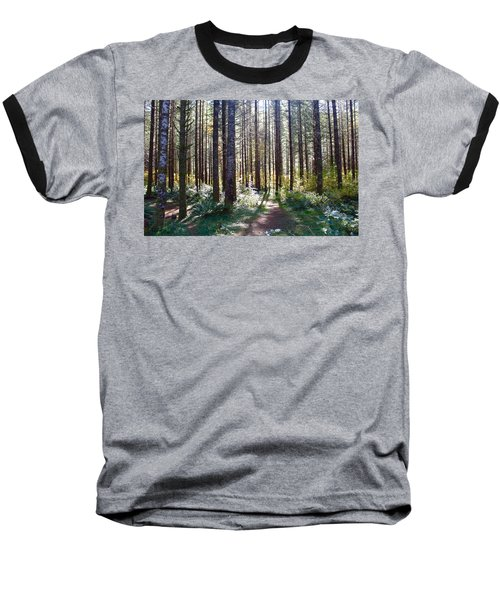 Forest Stroll Baseball T-Shirt