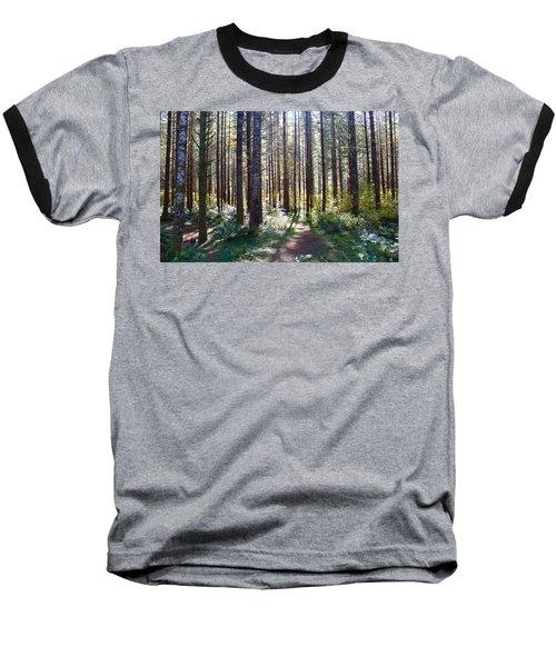 Forest Stroll Baseball T-Shirt