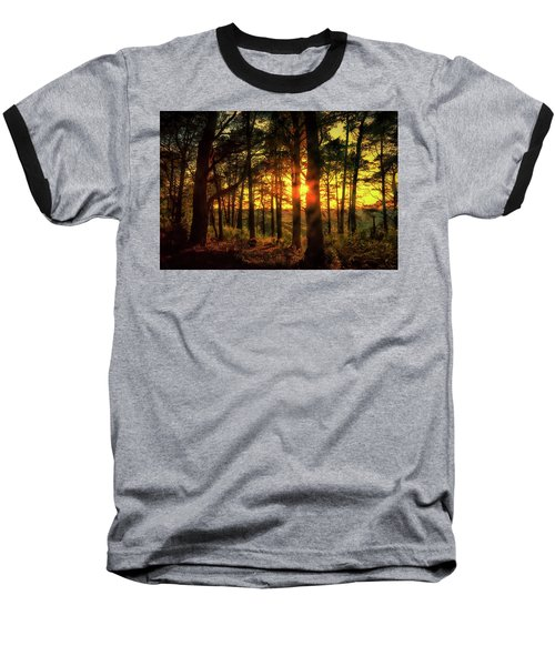 Forest Sunset Baseball T-Shirt