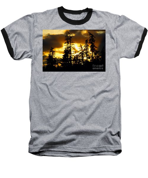 Baseball T-Shirt featuring the photograph Forest Sunset  by Nick Gustafson