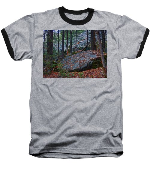 Baseball T-Shirt featuring the photograph Forest Trail 01 2015 by Walter Fahmy