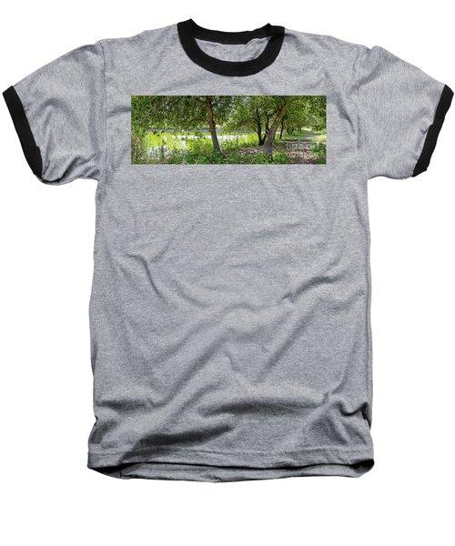 Forest Trail Baseball T-Shirt by Arik Baltinester