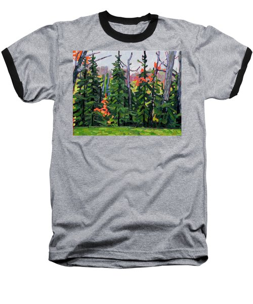 Forest Wall Baseball T-Shirt