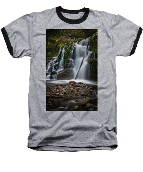 Baseball T-Shirt featuring the photograph Forest Waterfall by Chris McKenna