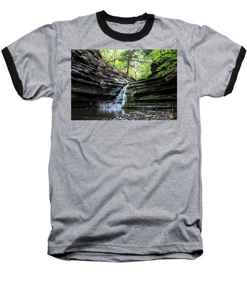 Baseball T-Shirt featuring the photograph Forest Waterfall by MGL Meiklejohn Graphics Licensing