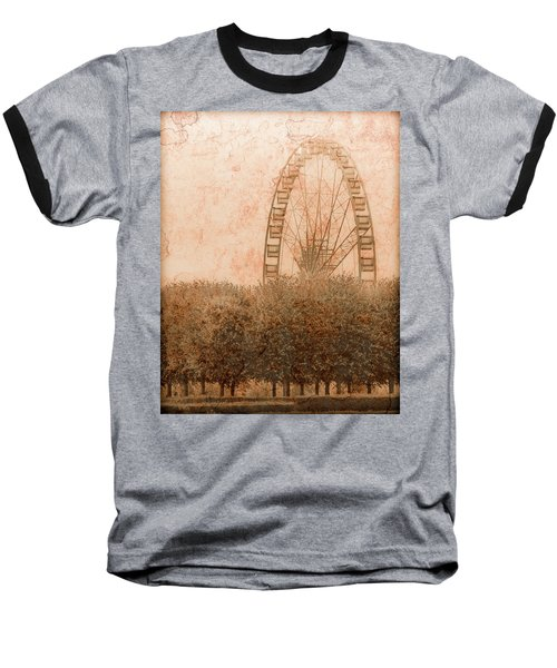 Paris, France - Forest Wheel Baseball T-Shirt
