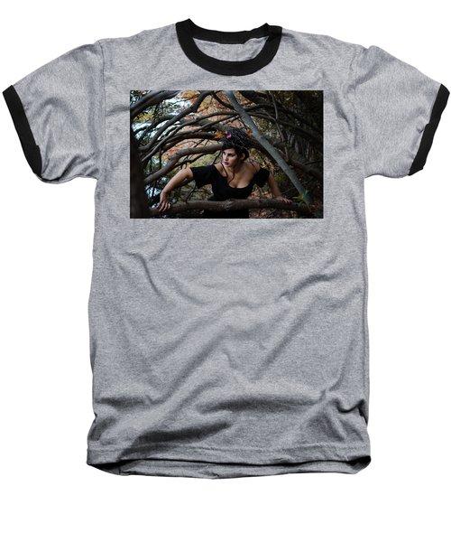 Forest Witch Baseball T-Shirt by Stefanie Silva