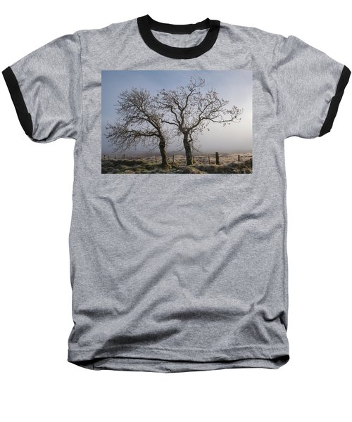 Baseball T-Shirt featuring the photograph Forever Buddies Facing The Fog by Jeremy Lavender Photography