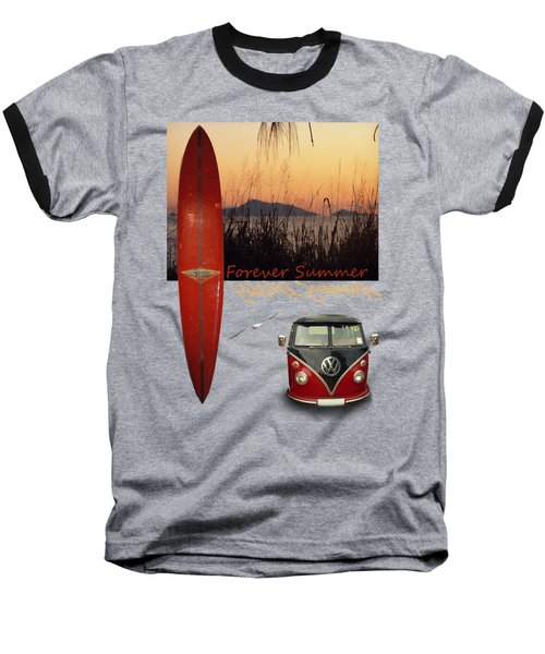 Baseball T-Shirt featuring the photograph Forever Summer 1 by Linda Lees