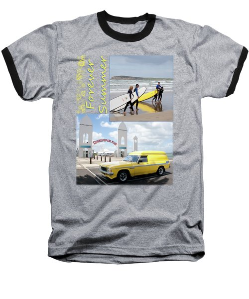 Baseball T-Shirt featuring the photograph Forever Summer 6 by Linda Lees