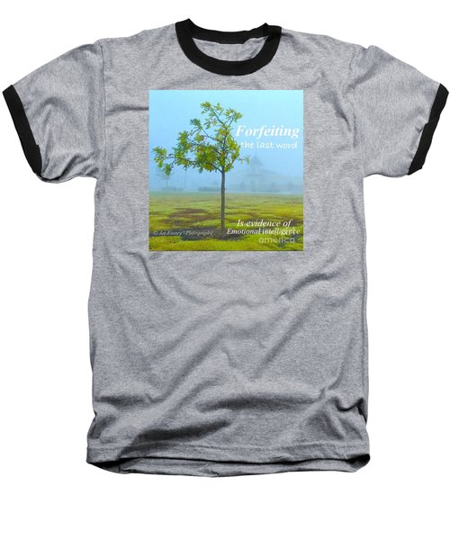 Baseball T-Shirt featuring the photograph Forfeiting Last Word - No.2015 by Joe Finney