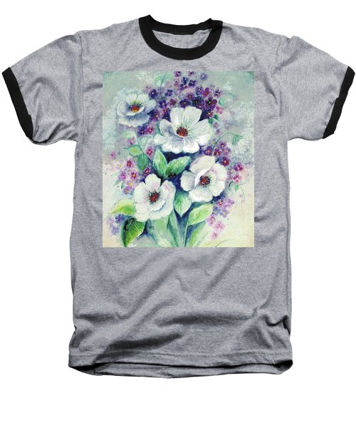 Forget-me-knots And Roses Baseball T-Shirt