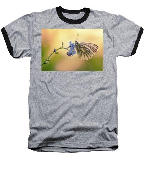 Forget Me Not Baseball T-Shirt by Jaroslaw Blaminsky