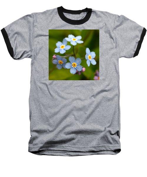 Forget-me-not Baseball T-Shirt by Jouko Lehto