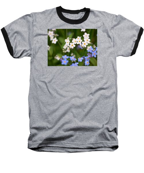 Forget Me Nots Baseball T-Shirt