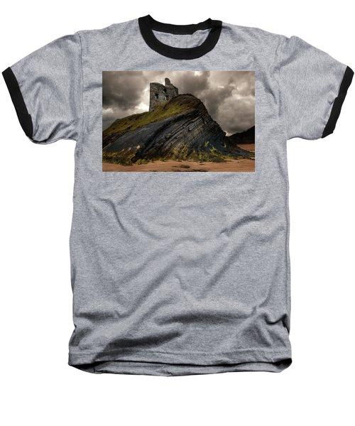 Forgotten Castle In Ballybunion Baseball T-Shirt