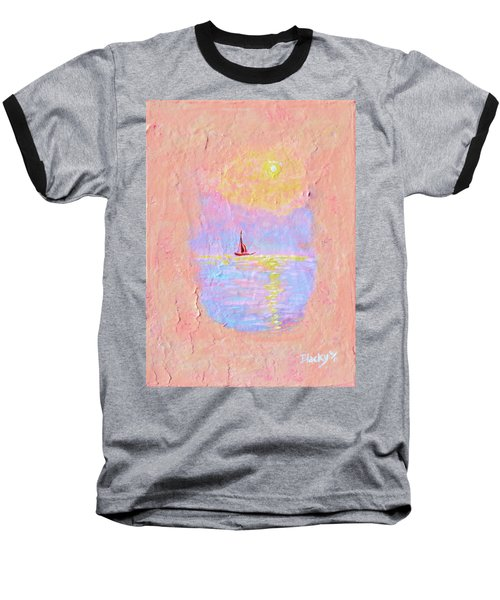 Forgotten Joy Baseball T-Shirt by Donna Blackhall