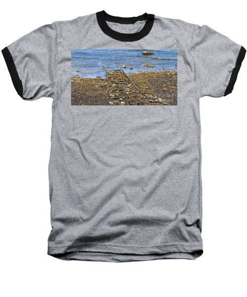 Baseball T-Shirt featuring the photograph Forgotten Line II by Stephen Mitchell