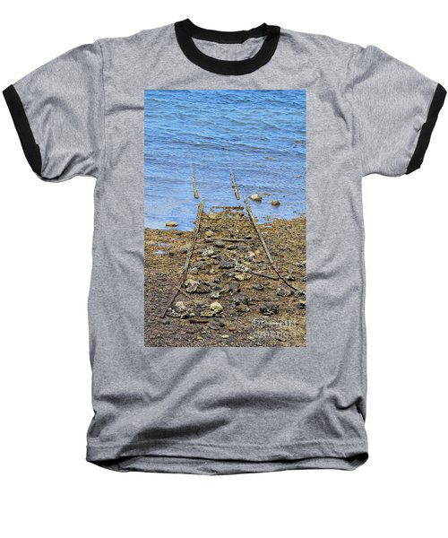 Baseball T-Shirt featuring the photograph Forgotten Line by Stephen Mitchell