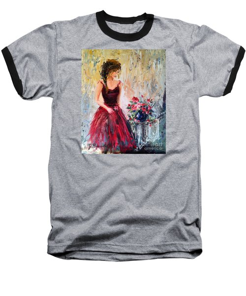 Baseball T-Shirt featuring the painting Forgotten Rose by Jennifer Beaudet