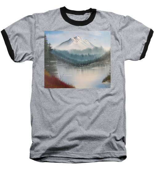 Fork In The River Baseball T-Shirt by Thomas Janos