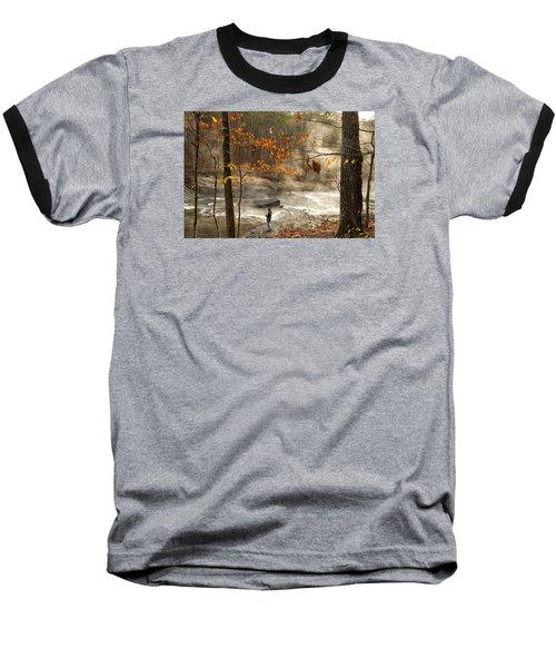 Fork River In Fall Baseball T-Shirt