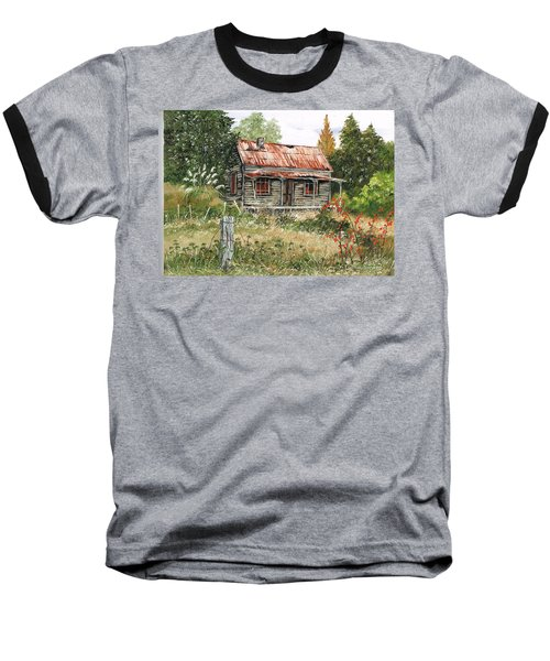 Baseball T-Shirt featuring the painting Forlorn  And Forgotten by Val Stokes