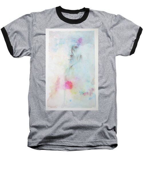 Baseball T-Shirt featuring the painting Forlorn Me by Rachel Hames
