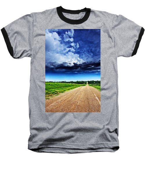 Forming Clouds Over Gravel Baseball T-Shirt