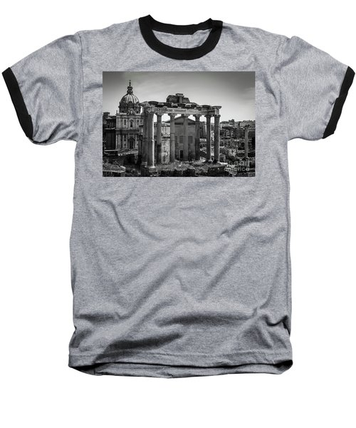 Baseball T-Shirt featuring the photograph Foro Romano, Rome Italy by Perry Rodriguez