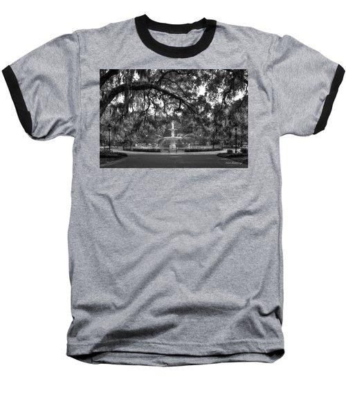 Forsyth Park Fountain 2 Savannah Georgia Art Baseball T-Shirt by Reid Callaway