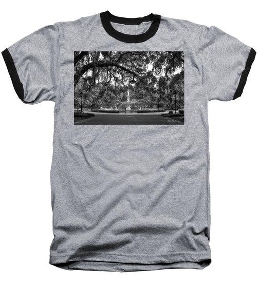 Forsyth Park Fountain 2 Savannah Georgia Art Baseball T-Shirt