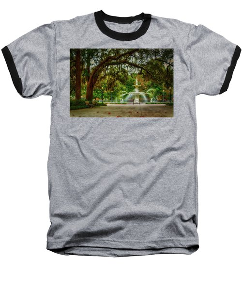 Forsyth Park Fountain Baseball T-Shirt