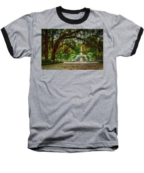 Forsyth Park Fountain Baseball T-Shirt