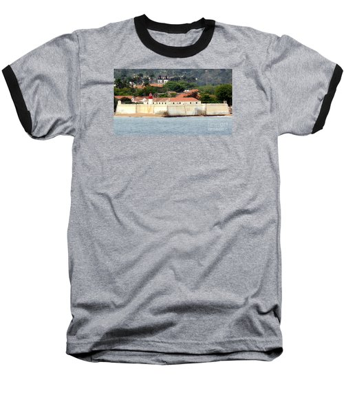 Fort At Sao Tome W. Africa Baseball T-Shirt by John Potts
